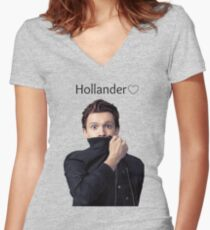 Hollander  Women's Fitted V-Neck T-Shirt