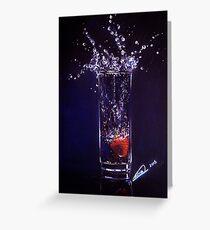 Splashing warter reflection Greeting Card