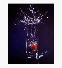 Splashing warter reflection Photographic Print