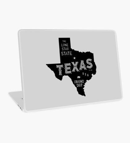 Texas State Shape & Motto & Nickname Laptop Skin