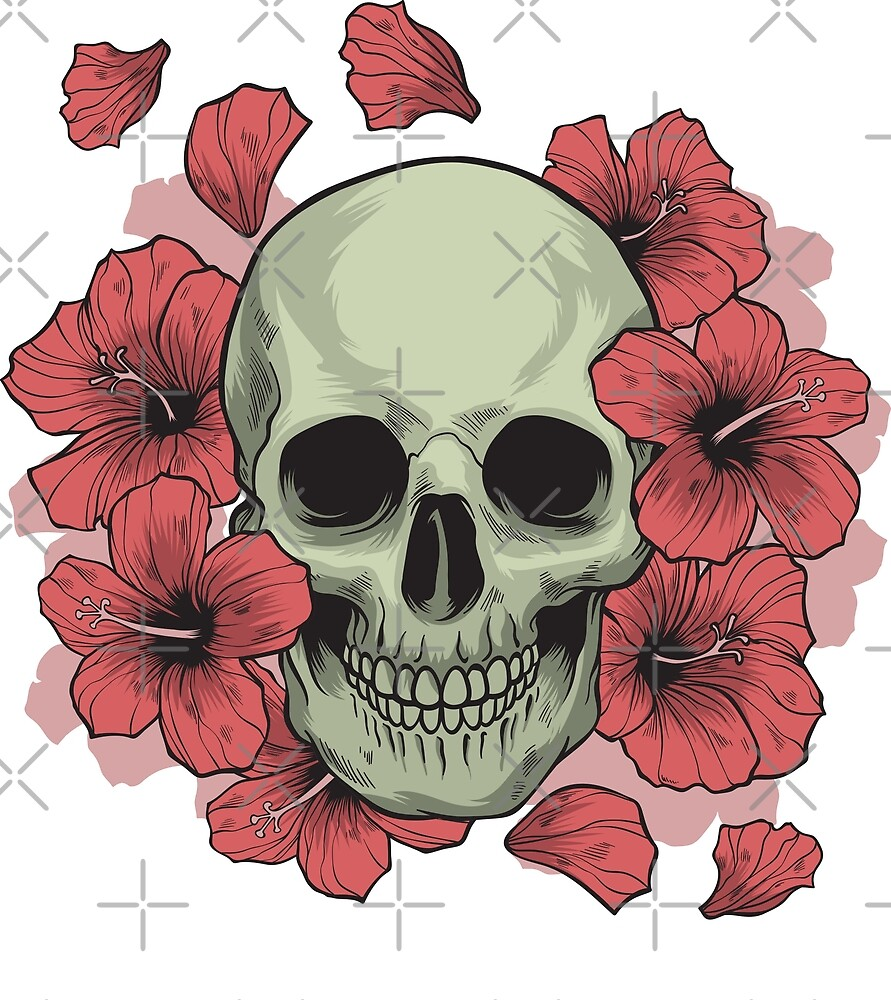 Hibiscus Skull by byruit