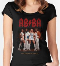 ABBA Rock Shirt - Let There Be Disco Women's Fitted Scoop T-Shirt