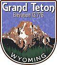 GRAND TETON MOUNTAIN NATIONAL PARK WYOMING HIKING CLIMBING BLUE by MyHandmadeSigns