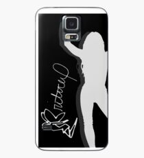Britney Spears Silhouette White Case/Skin for Samsung Galaxy