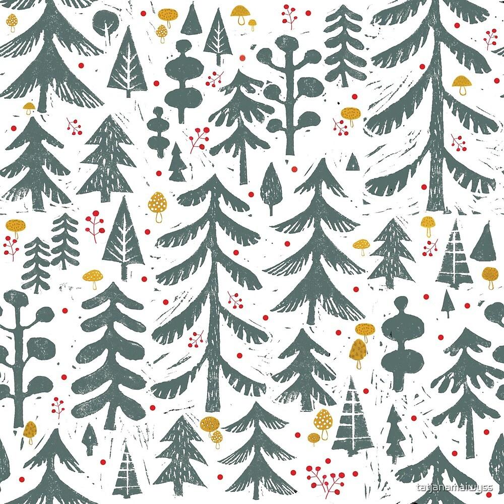 winter woods pattern by tatjanamaiwyss