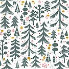 winter woods pattern by tatjanamaiwyss