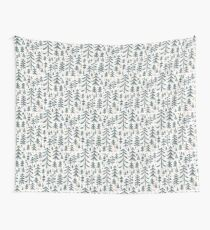 winter woods pattern Wall Tapestry