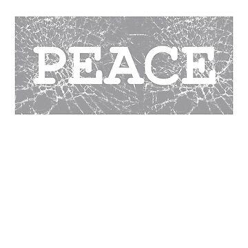 Cute Word Stylish Graphic - Peace by sbdawsey