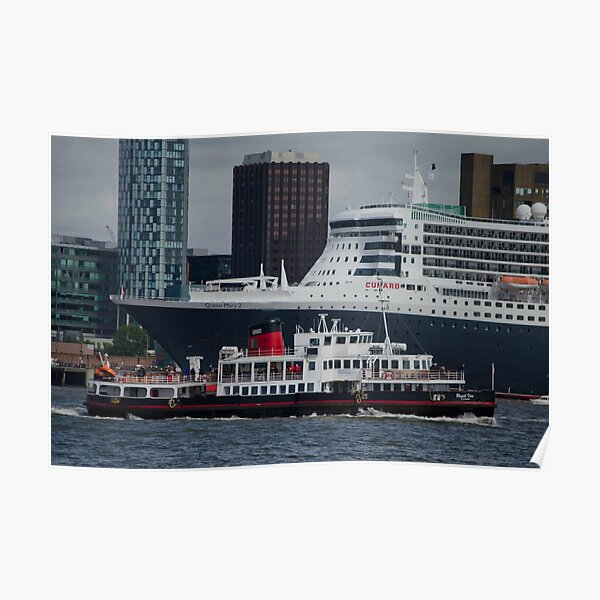 cruise ships  Liverpool Pier head Poster