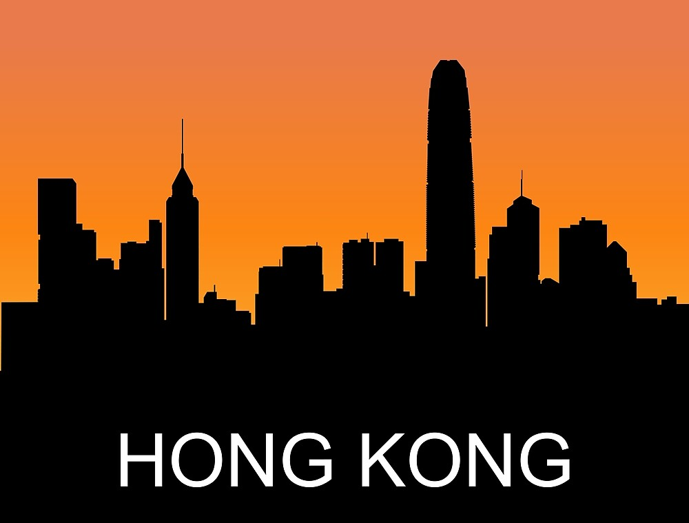 Hong Kong, romantic sunset, travel sticker by AmorOmniaVincit