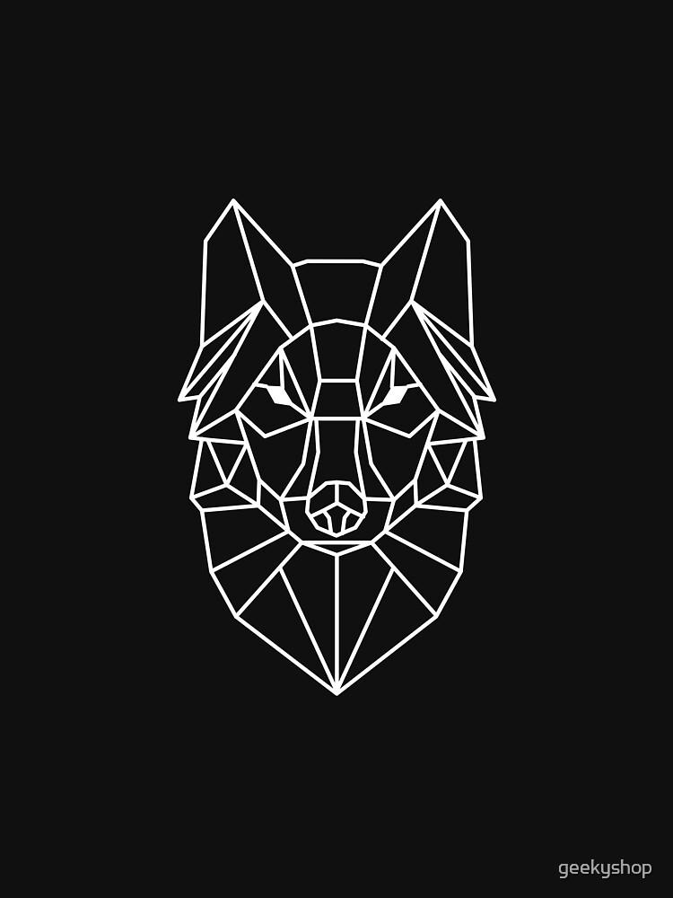 Wolf - Geometric Design by geekyshop
