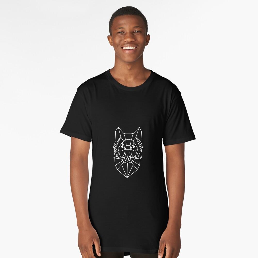 Wolf - Geometric Design Long T-Shirt Front