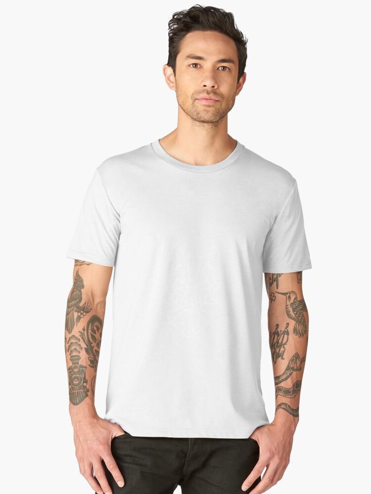 Wolf - Geometric Design Men's Premium T-Shirt Front