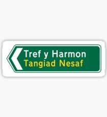 Harmonton - Next Tangent British style in WELSH Sticker