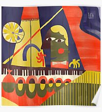 Abstract Piano Bar Poster