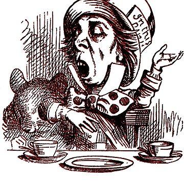 Mad Hatter - Lewis Carroll Alice in Wonderland by edskimo8