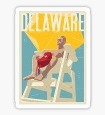 Delaware Vintage Travel Art Sticker