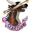 Wings of Fire Dragon! Starflight Sticker! by Edgot Emily Dimov-Gottshall