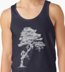 Der Bodhi-Baum der Erkenntnis (weiße Version) Tank Top