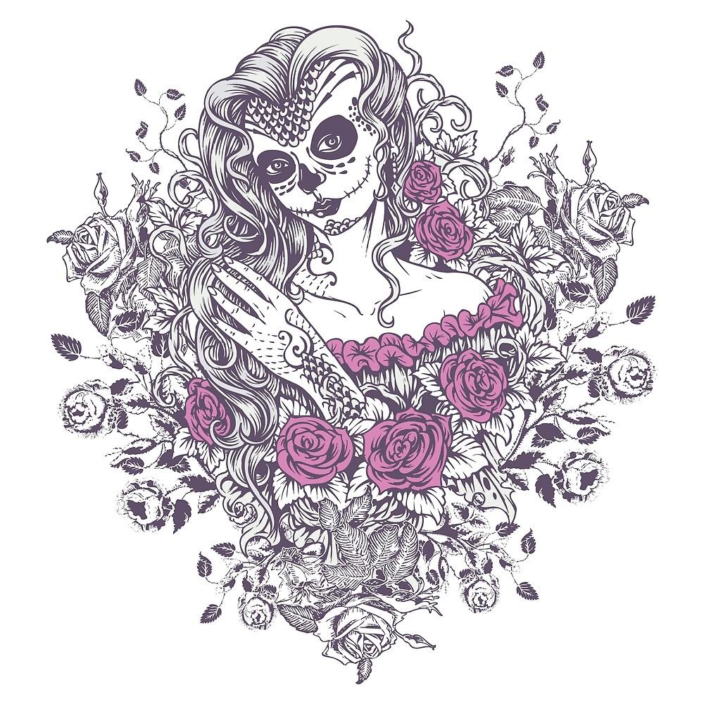 Sexy Woman zombie WITH Flower - KOBI by BALONROSU