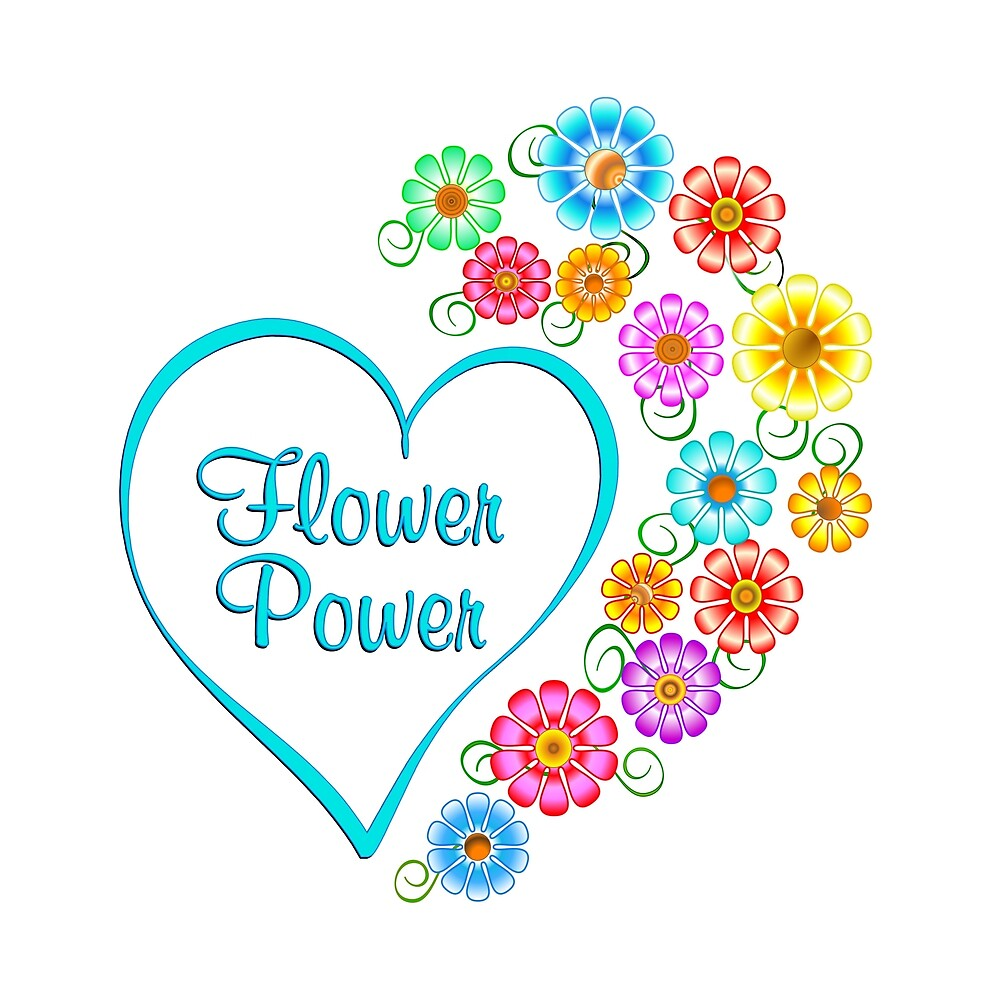Flower Power Heart by CoolDoodles