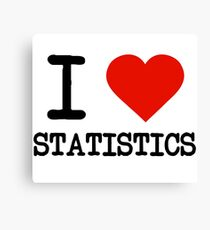 I Love Statistics Canvas Print