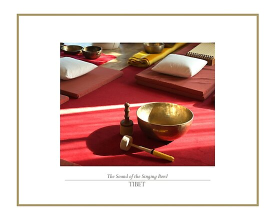 The sound of the golden singing bowl by FlatLandPrints