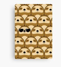 Sloth Army Canvas Print
