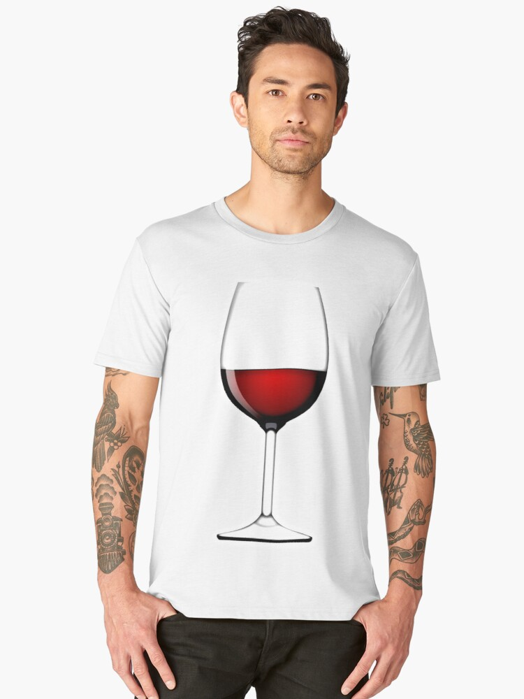 RED WINE, in a Glass Men's Premium T-Shirt Front