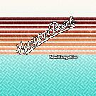 Hampton Beach, New Hampshire   Surf Stripes by retroready