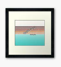 Hampton Beach, New Hampshire | Surf Stripes Framed Print
