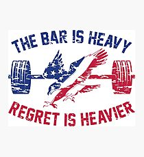 The Bar Is Heavy Regret Is Heavier - RWB Photographic Print