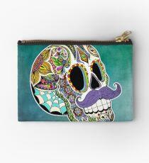 Mustache Sugar Skull (Color Version) Studio Pouch