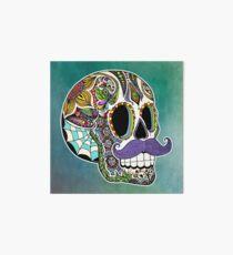 Mustache Sugar Skull (Color Version) Art Board