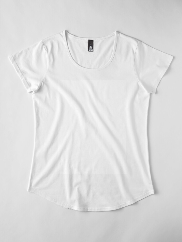 Alternate view of PLAIN WHITE | VERY WHITE | NEUTRAL SHADE | WE HAVE OVER 40 SHADES AND HUES IN THE NEUTRAL PALETTE Premium Scoop T-Shirt