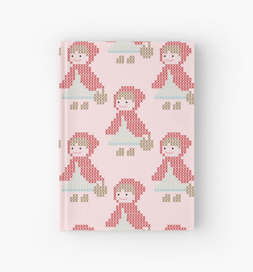 Red Riding Hood Cross Stitch Pattern in Pink by Betty-Sue