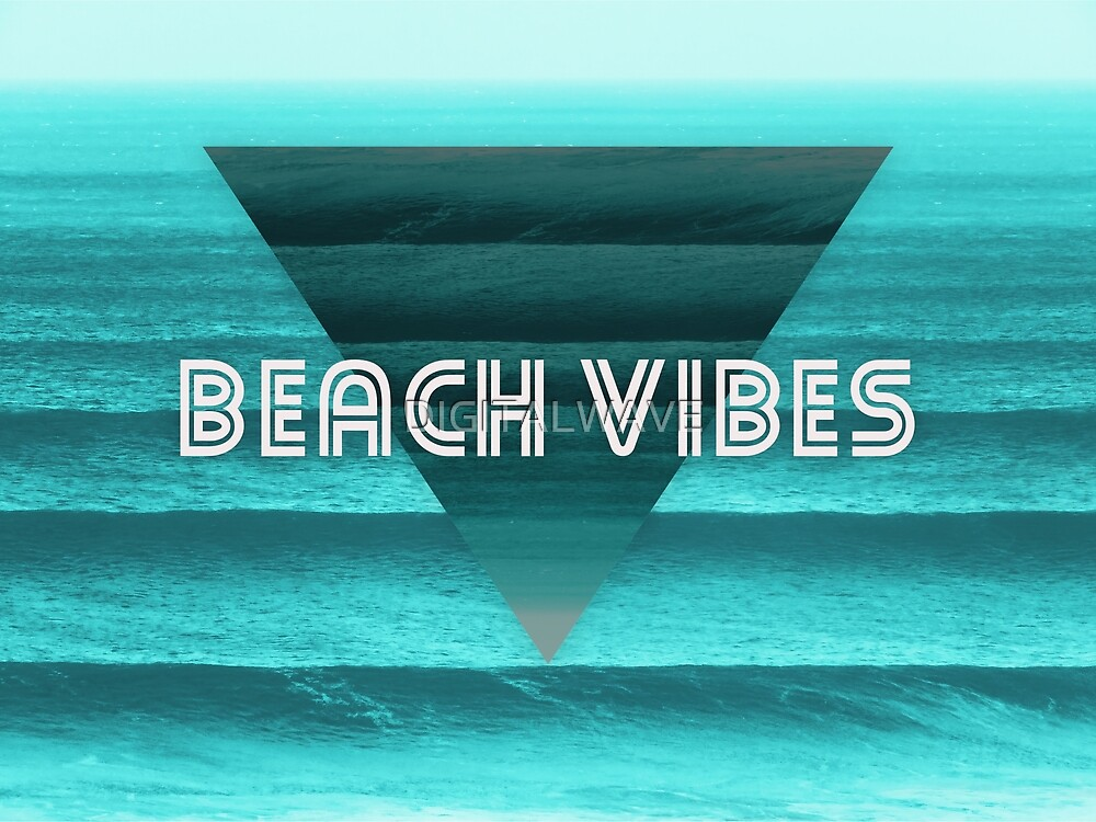 Geometric Beach Vibes  by DIGITALWAVE