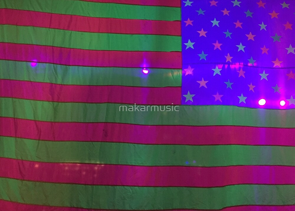 American Flag on Halloween closeup by makarmusic