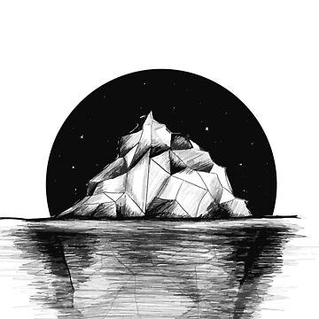 Iceberg at night by PIY