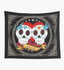 Tela decorativa Love Skulls