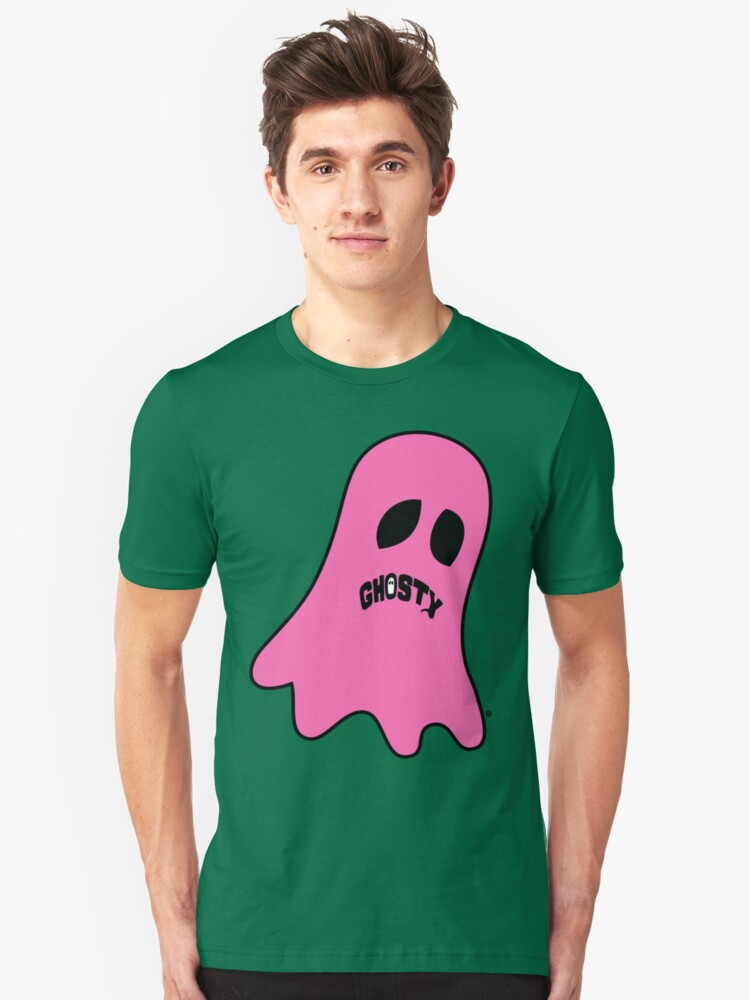 Pink Ghosty Unisex T-Shirt Front
