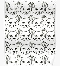cat pattern Poster