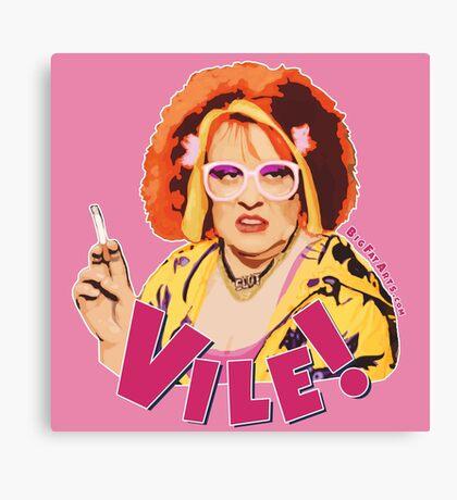 Vile! (Nipple Pink) Canvas Print