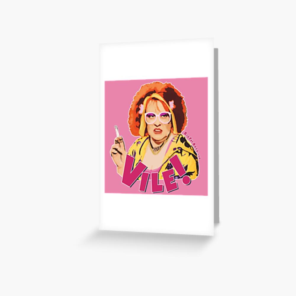 Vile! (Nipple Pink) Greeting Card
