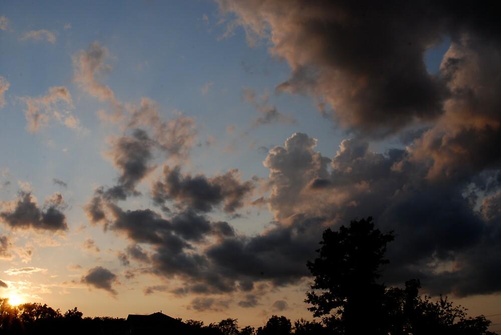 Sunday Evening Sunset by Robert Baker