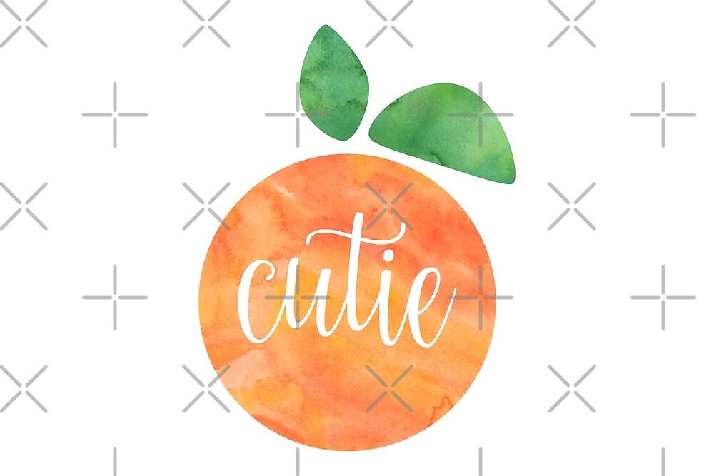 Cutie Watercolor Orange by Jodie Andrews