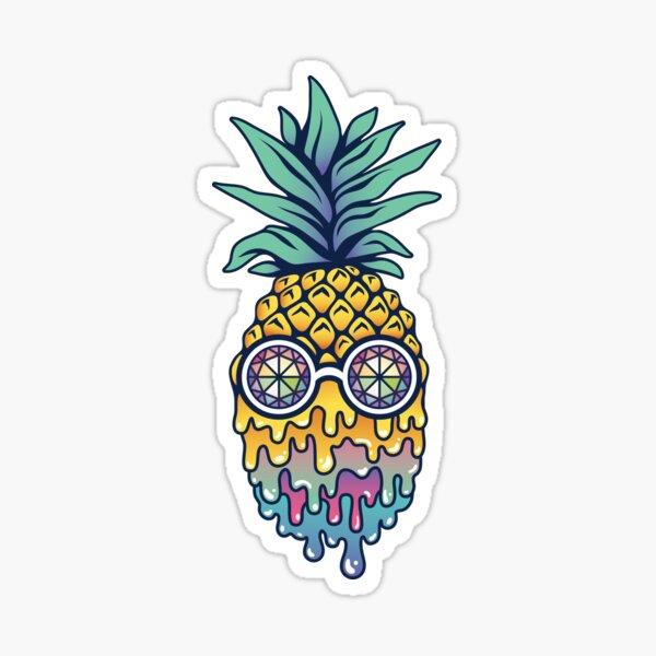 Bass Face Pineapple Sticker