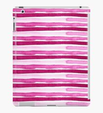 Magenta Seaside Stripes iPad Case/Skin