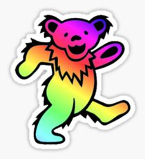 Grateful Dead Dancing Bear Rainbow Sticker
