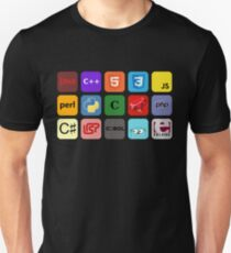 programming languages color mosaic T-Shirt